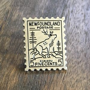 'Newfoundland Stamp' enamel pin